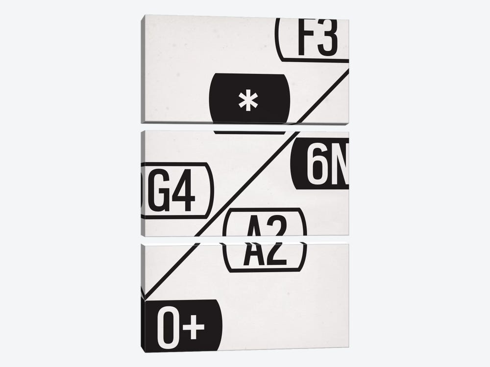 Modern Art- Schematic Typography by 5by5collective 3-piece Canvas Artwork