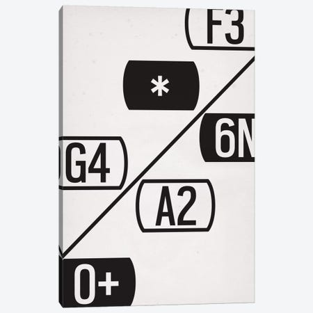 Modern Art- Schematic Typography Canvas Print #MA282} by 5by5collective Canvas Print