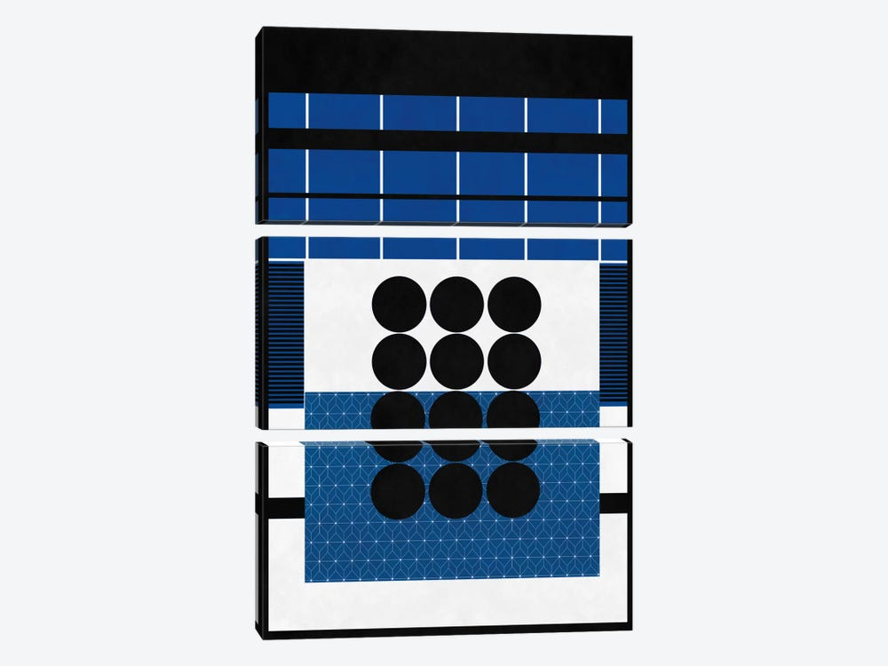 Modern Art - A Study in Geometry by 5by5collective 3-piece Canvas Wall Art