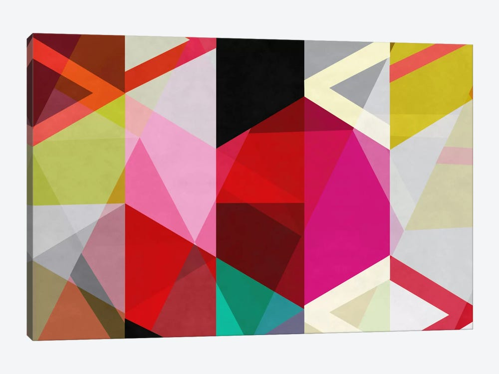 Modern Art - View Through a Kaleidoscope by 5by5collective 1-piece Canvas Art