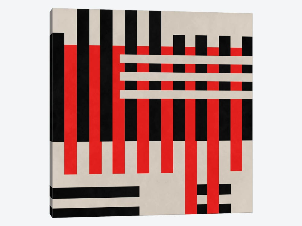 Modern Art- Intersection by 5by5collective 1-piece Canvas Artwork