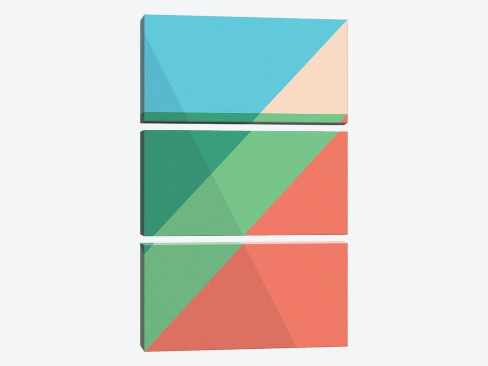 Modern Art - Overlapped Triangles by 5by5collective 3-piece Canvas Wall Art