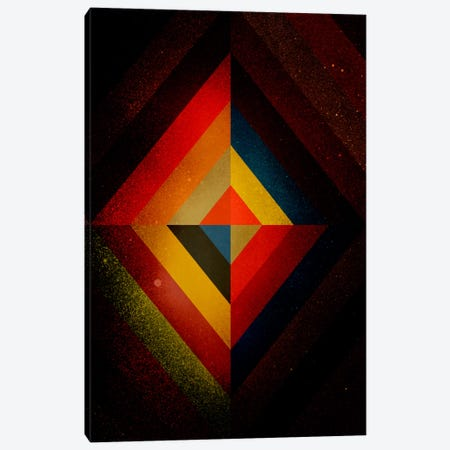 Mid Century Modern Art - Diamond Color Composition ll (After Kandisnky) Canvas Print #MA2} by 5by5collective Canvas Artwork