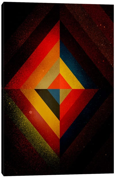 Mid Century Modern Art - Diamond Color Composition ll (After Kandisnky) Canvas Print #MA2