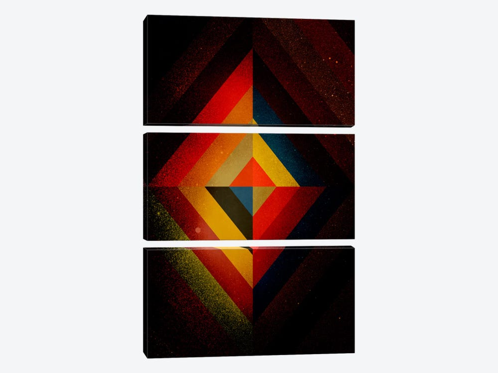 Mid Century Modern Art - Diamond Color Composition ll (After Kandisnky) by 5by5collective 3-piece Art Print