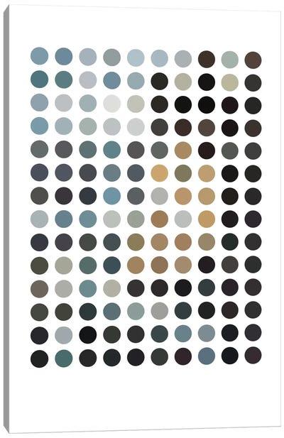 Modern Art - Earthy Dots Canvas Print #MA310