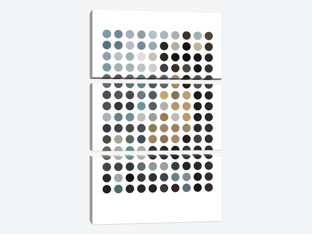 Modern Art - Earthy Dots by 5by5collective 3-piece Canvas Art