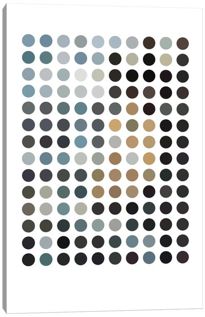 Modern Art - Earthy Dots Canvas Art Print