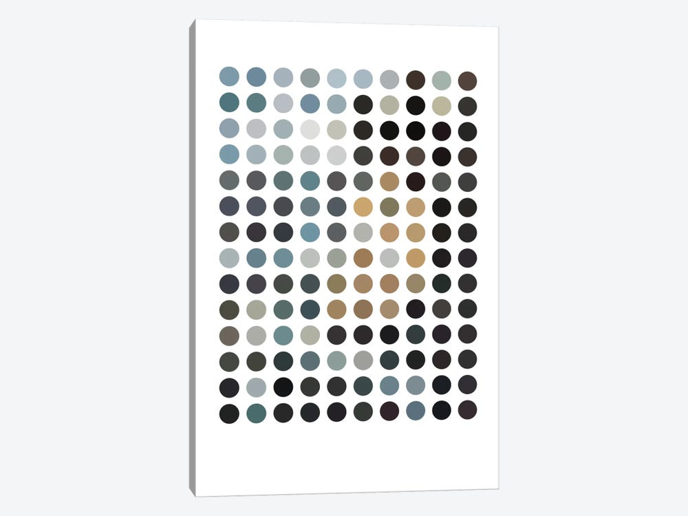 Modern Art - Earthy Dots by 5by5collective 1-piece Canvas Wall Art