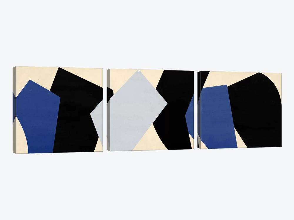 Modern Art- Six Chunks by 5by5collective 3-piece Canvas Wall Art