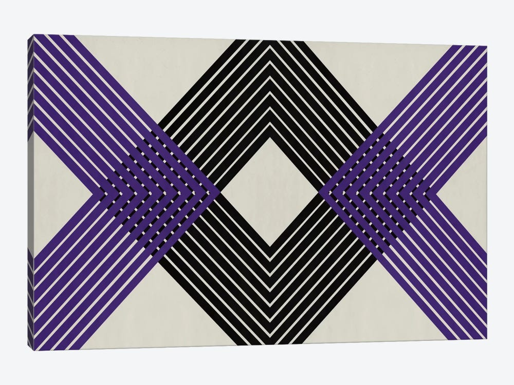 Modern Art - Intersecting Lozenge by 5by5collective 1-piece Canvas Print
