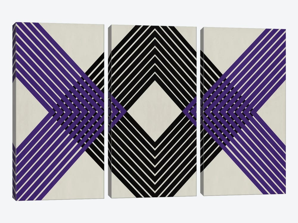 Modern Art - Intersecting Lozenge by 5by5collective 3-piece Art Print