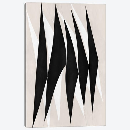 Modern Art - Zebra Print Tribal Paint Canvas Print #MA319} by 5by5collective Canvas Art Print