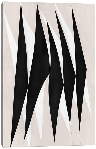 Modern Art - Zebra Print Tribal Paint Canvas Art Print