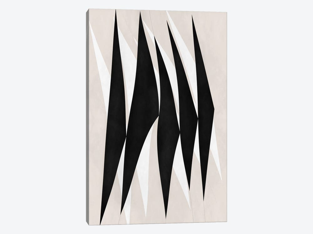 Modern Art - Zebra Print Tribal Paint by 5by5collective 1-piece Canvas Print