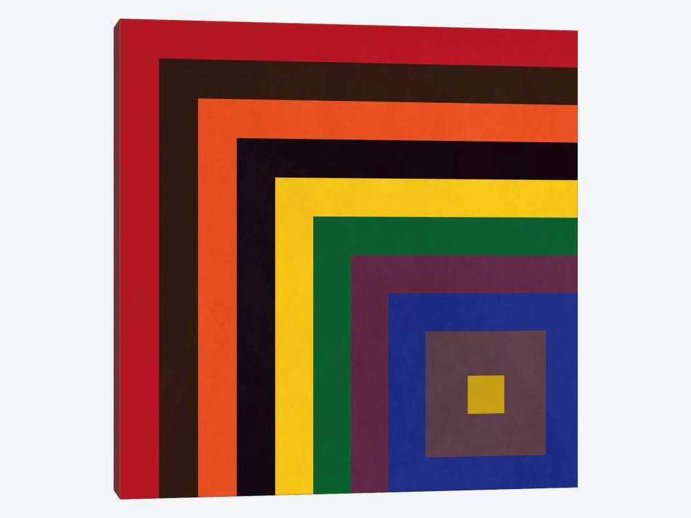 Modern Art- Color Stacks by 5by5collective 1-piece Canvas Artwork