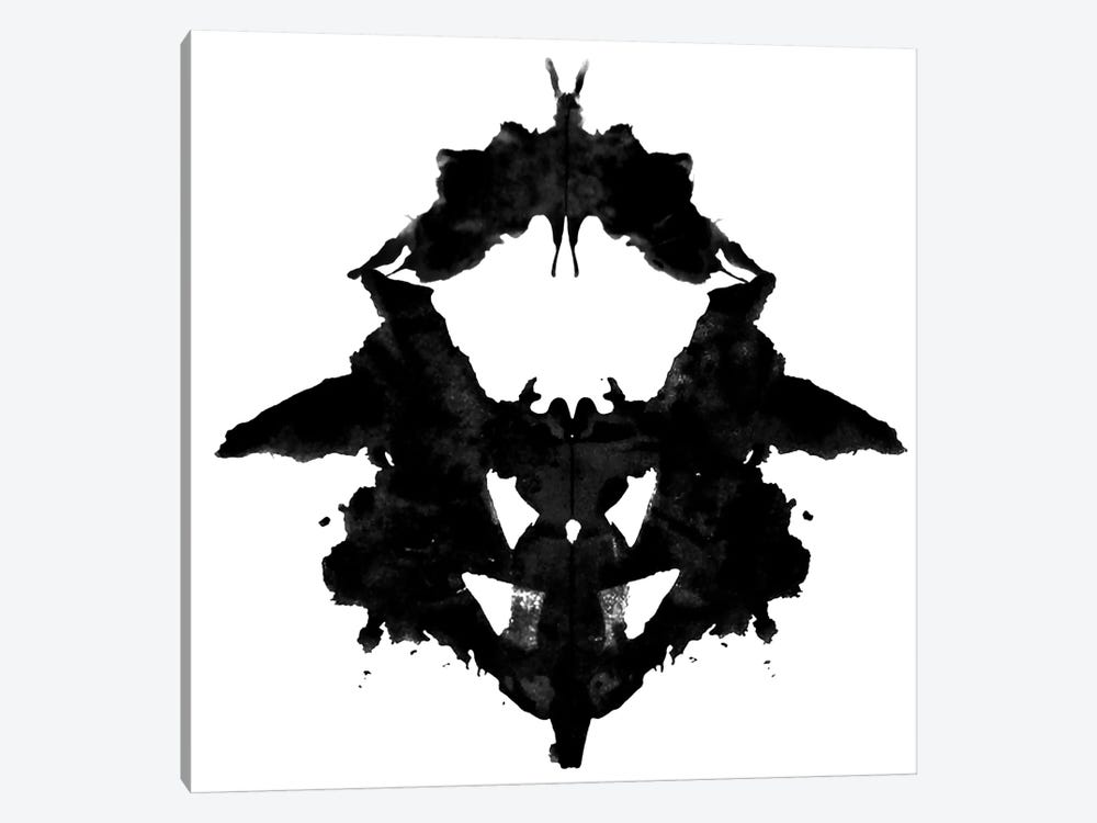 Modern Art- Dancing Butterfly Inkblots by 5by5collective 1-piece Canvas Print