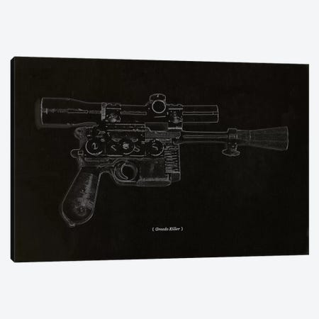 Modern Art - Greedo Killer Schematics Canvas Print #MA347} by 5by5collective Canvas Print