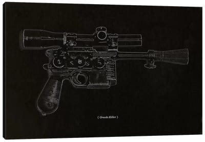 Modern Art - Greedo Killer Schematics Canvas Art Print