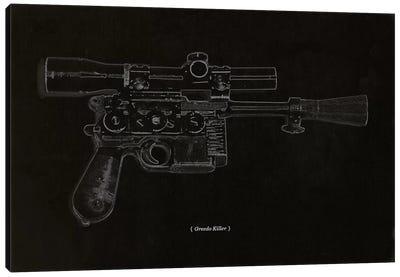 Modern Art - Greedo Killer Schematics Canvas Art Print