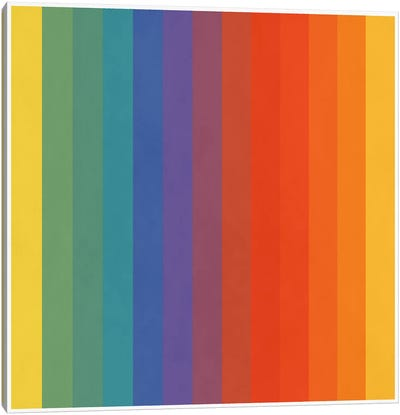 Modern Art- Pride Pattern Canvas Art Print