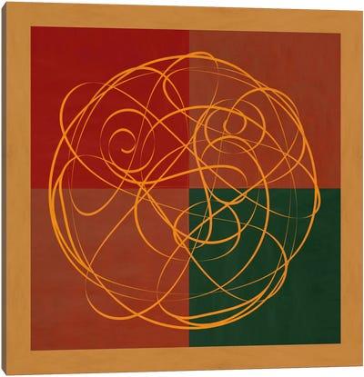 Modern Art- Indian Symbolism Luck & Prosperity Canvas Print #MA353