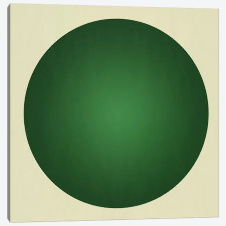 Modern Art- Green Orb Canvas Print #MA370} by 5by5collective Art Print
