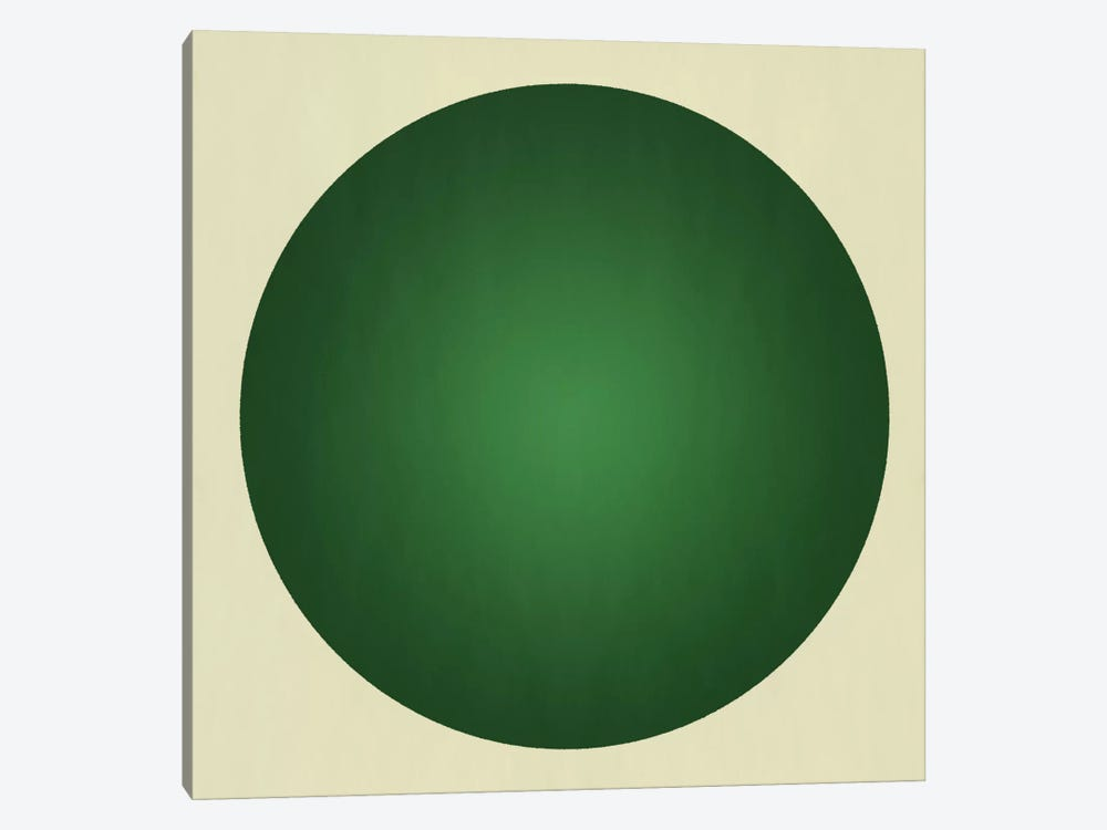 Modern Art- Green Orb by 5by5collective 1-piece Canvas Art
