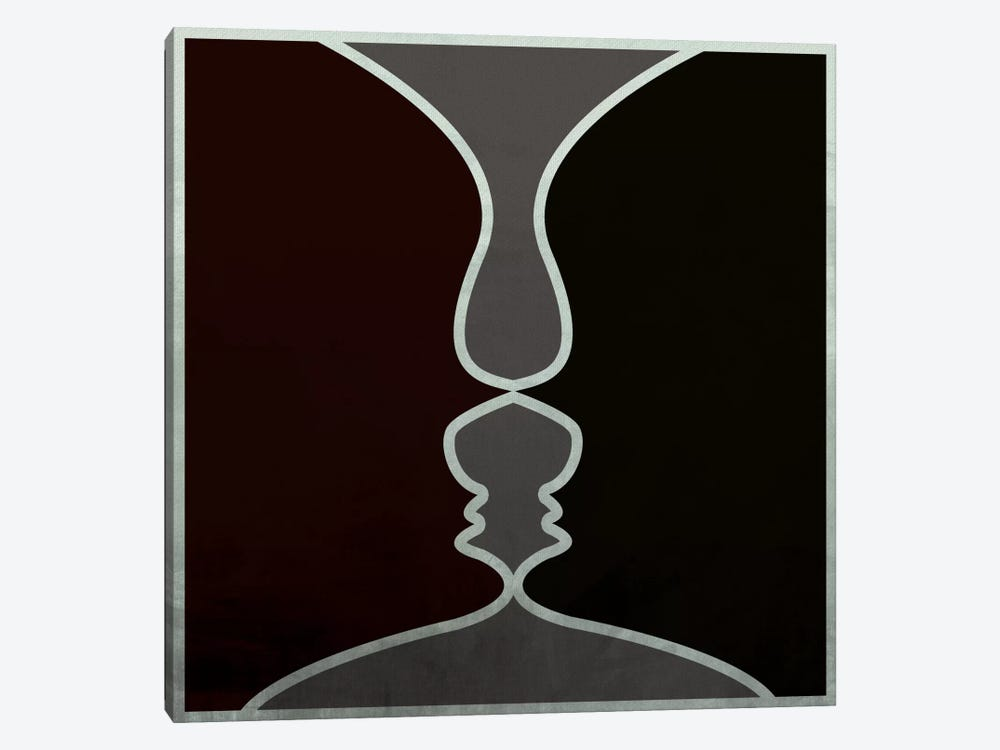 Modern Art- Face to Face by 5by5collective 1-piece Canvas Art Print