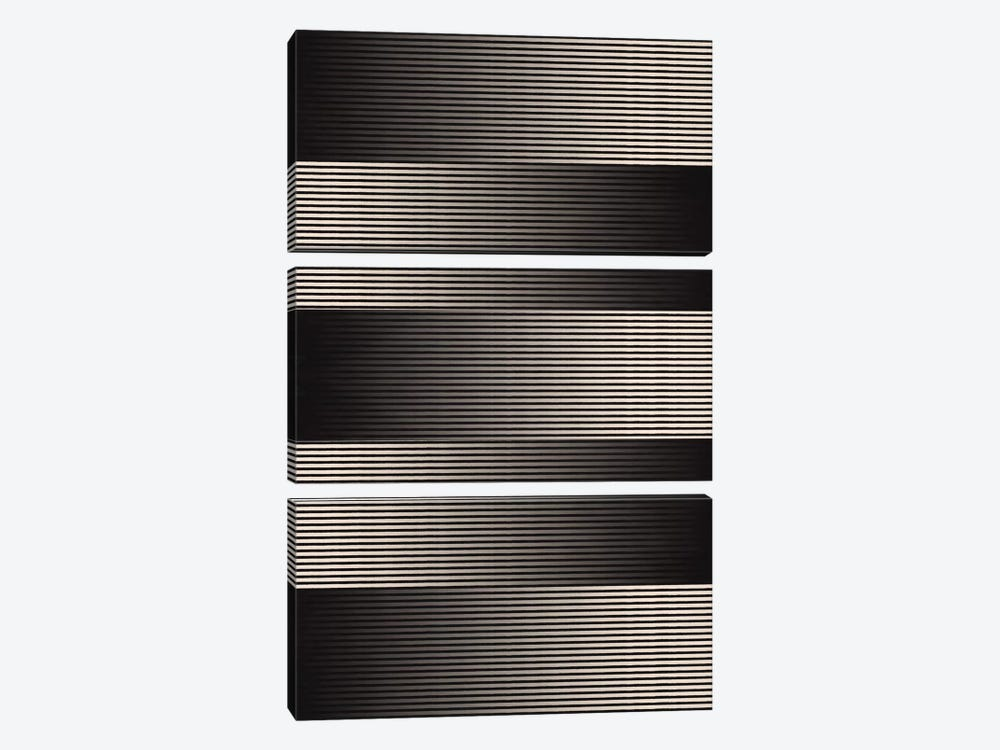 Modern Art- Grayscale by 5by5collective 3-piece Canvas Wall Art