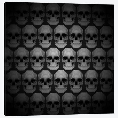 Modern Art- Pixilated Skulls Canvas Print #MA3} by 5by5collective Canvas Wall Art