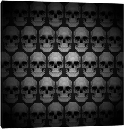 Modern Art- Pixilated Skulls Canvas Art Print