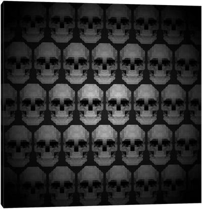 Modern Art- Pixilated Skulls Canvas Art Print