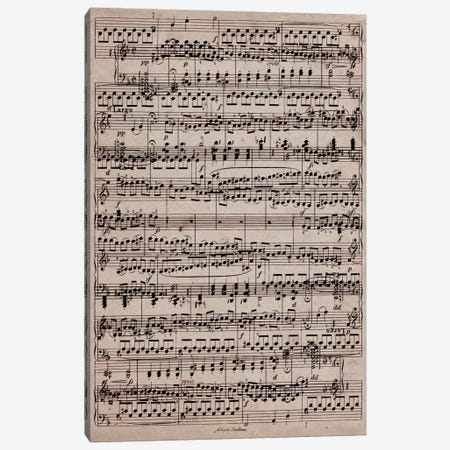 Modern Art - Sheet Music Ode to Joy Canvas Print #MA400} by 5by5collective Canvas Print