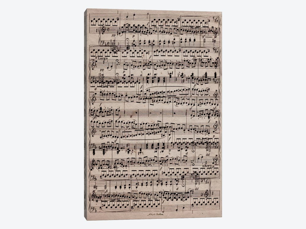 Modern Art - Sheet Music Ode to Joy 1-piece Canvas Wall Art