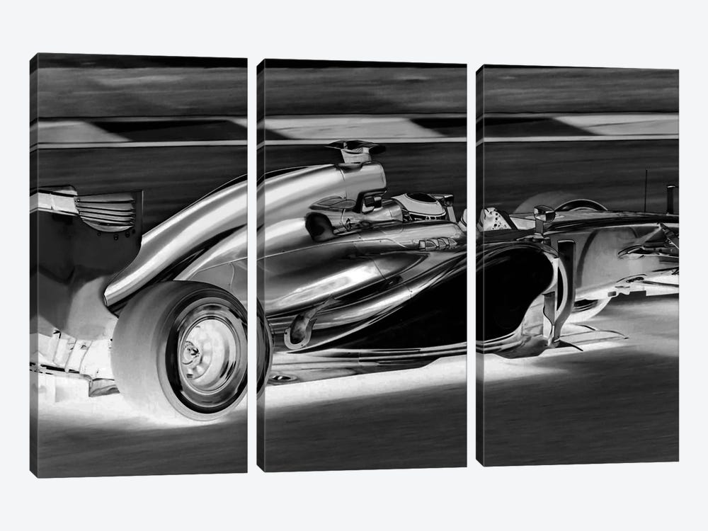Modern Art - Formula 1 by 5by5collective 3-piece Canvas Print