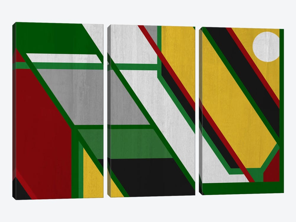 Modern Art - Pattern (After Mondrian) by 5by5collective 3-piece Canvas Art Print