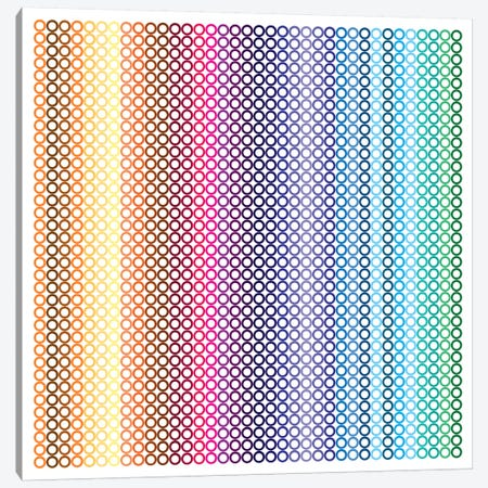 Modern Art- Pride Pattern ll Canvas Print #MA410} by 5by5collective Canvas Art