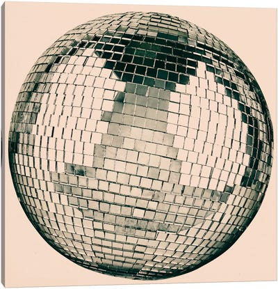 Modern Art- Disco Ball Canvas Art Print
