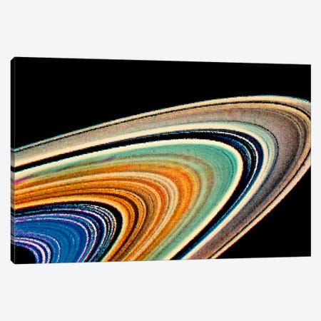 Modern Art - Rings of Saturn Canvas Print #MA440} by 5by5collective Canvas Print