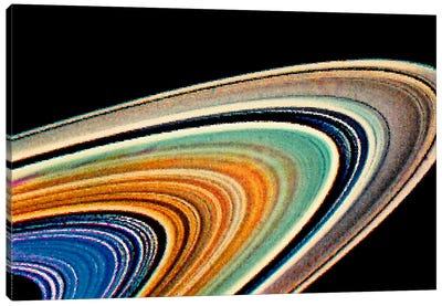 Modern Art - Rings of Saturn Canvas Print #MA440