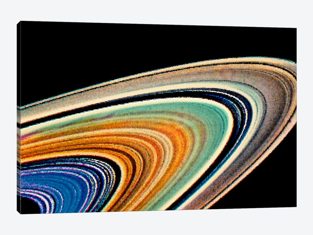 Modern Art - Rings of Saturn by 5by5collective 1-piece Canvas Art