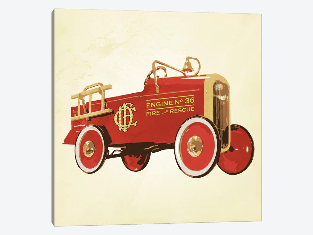 Modern Art- Fire Engine 36 by 5by5collective 1-piece Canvas Print