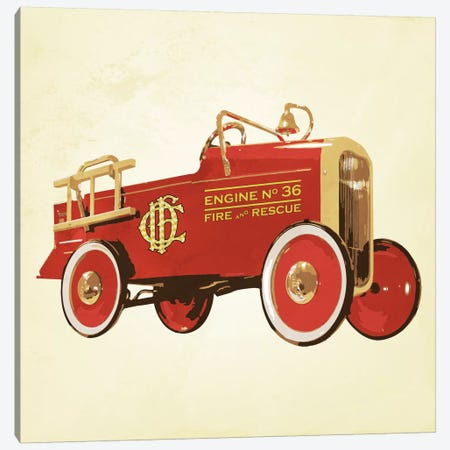 Modern Art- Fire Engine 36 Canvas Print #MA445} by 5by5collective Canvas Wall Art