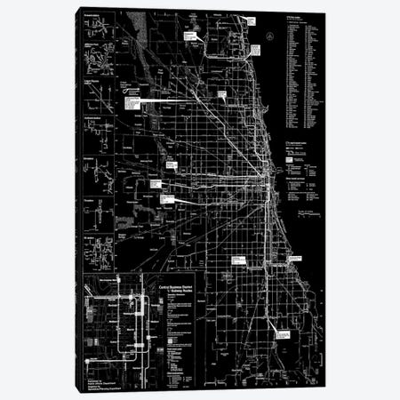 Modern Art - Chicago Transit Negative Canvas Print #MA468} by 5by5collective Canvas Art Print