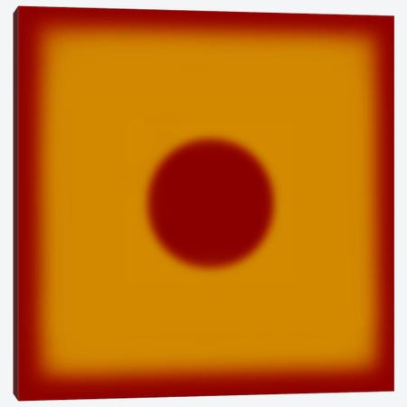 Modern Art- Red Hot Sun Canvas Print #MA473} by 5by5collective Canvas Artwork