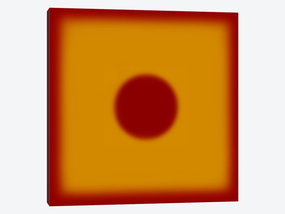 Modern Art- Red Hot Sun by 5by5collective 1-piece Canvas Art