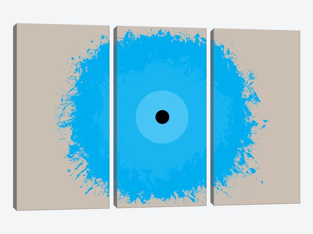 Modern Art- Cool Blue by 5by5collective 3-piece Canvas Art Print