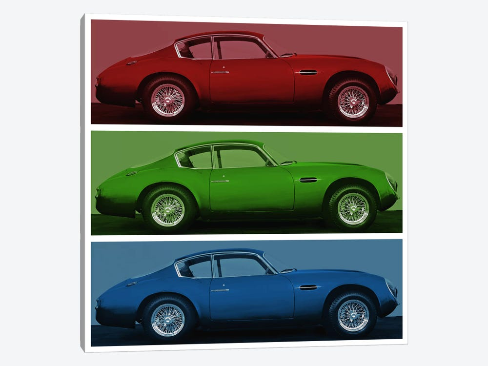 Vintage Race Car by 5by5collective 1-piece Canvas Wall Art