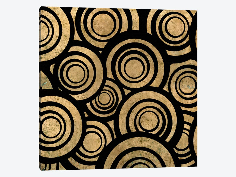 Modern Art- Overlapping Circle Pattern by 5by5collective 1-piece Canvas Wall Art